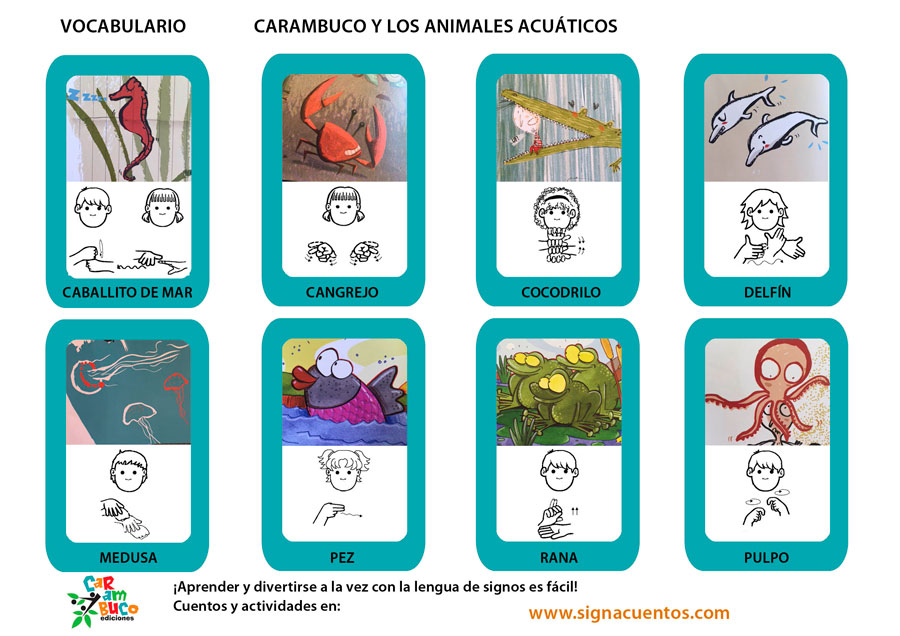 Vocabulario animales acuáticos