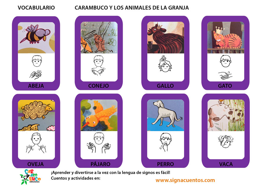 Vocabulario animales de la granja