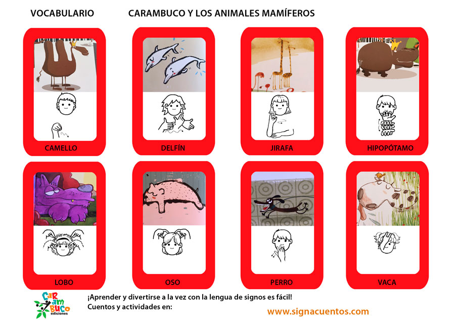 Vocabulario animales mamíferos