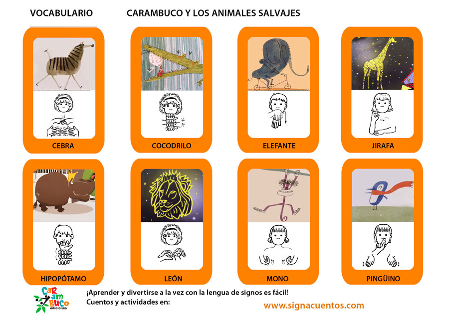 Vocabulario animales salvajes
