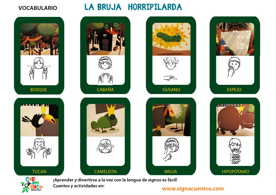 Vocabulario la Bruja Horripilarda