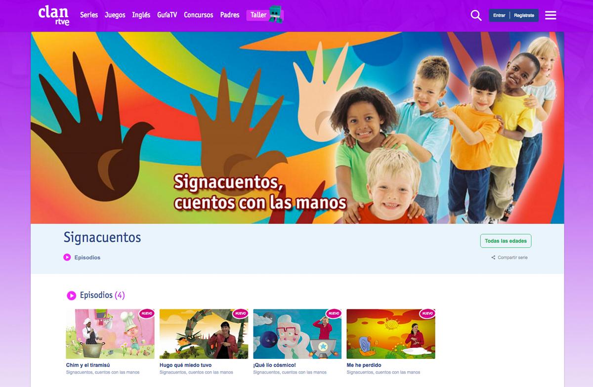 Imagen web Clan TV y SignaCuentos
