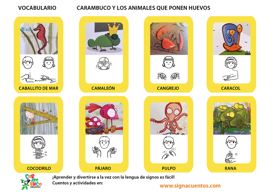 Vocabulario animales que ponen huevos