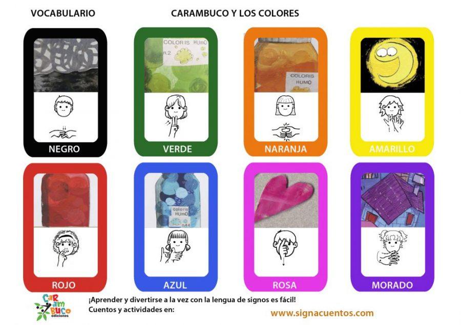 Vocabulario colores en lengua de signos española