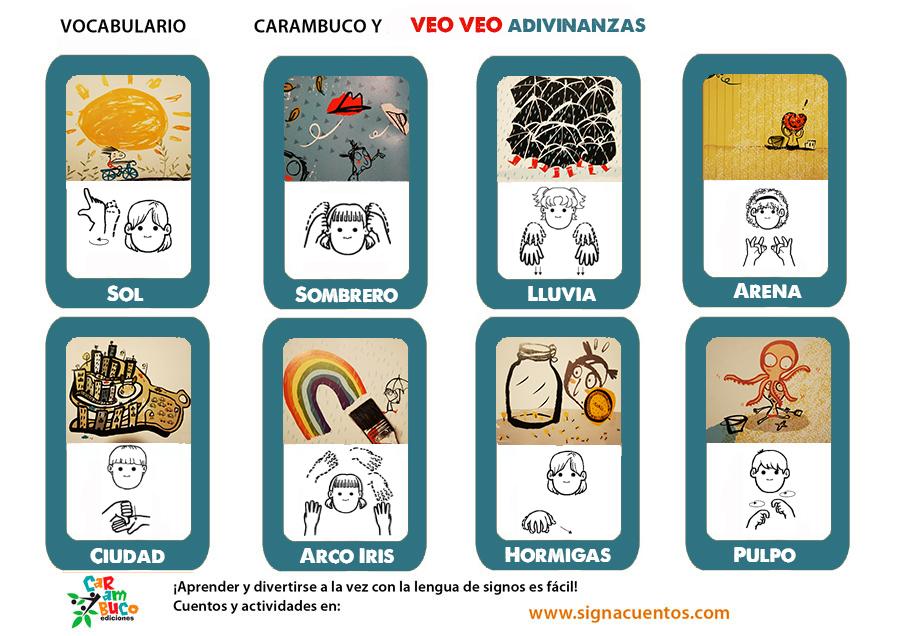 Vocabulario veo veo en lengua de signos española