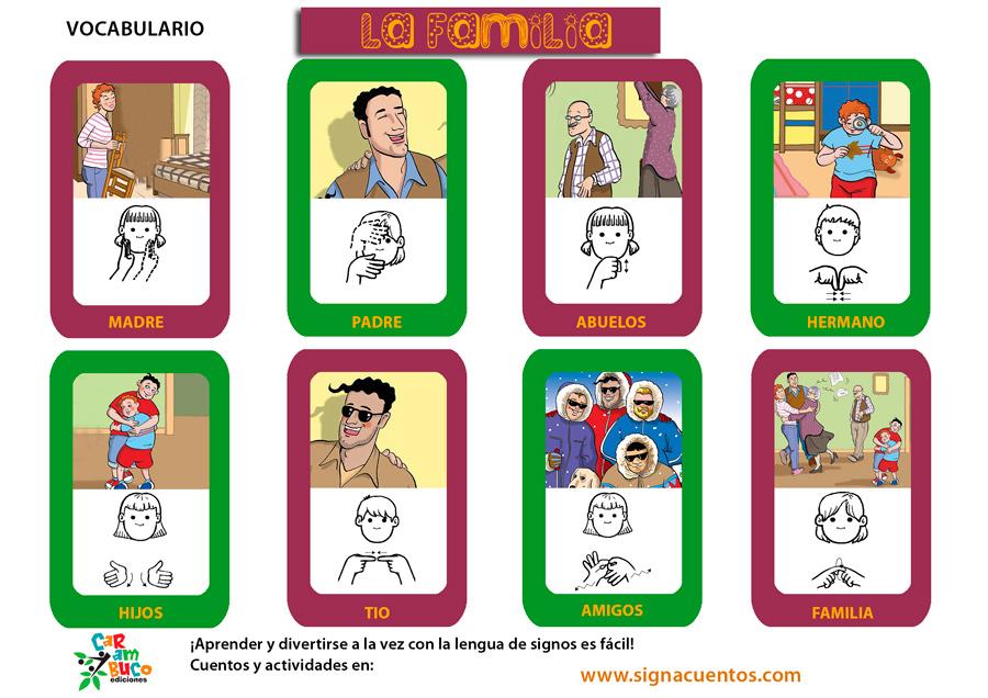 Vocabulario familia en lengua de signos española