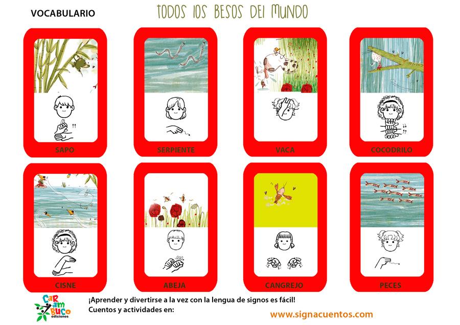 Vocabulario besos en lengua de signos española