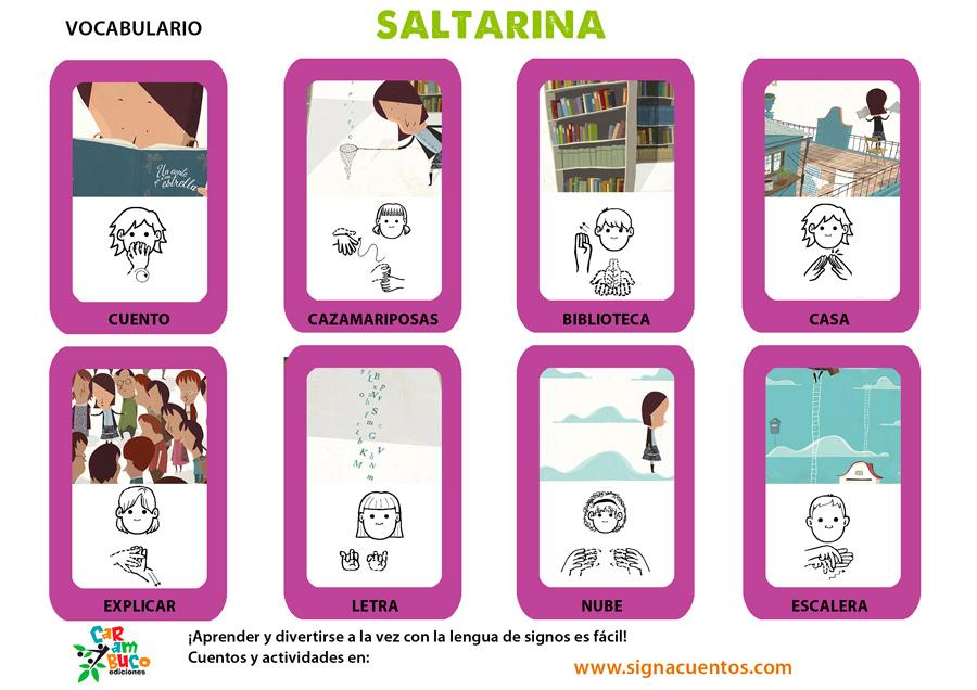 Vocabulario Saltarina